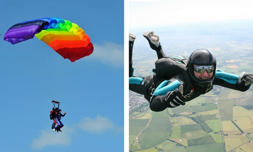 What is Skydiving Versus Parachuting?