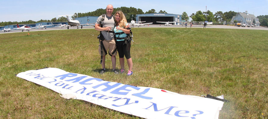 Skydiving Marriage Proposals